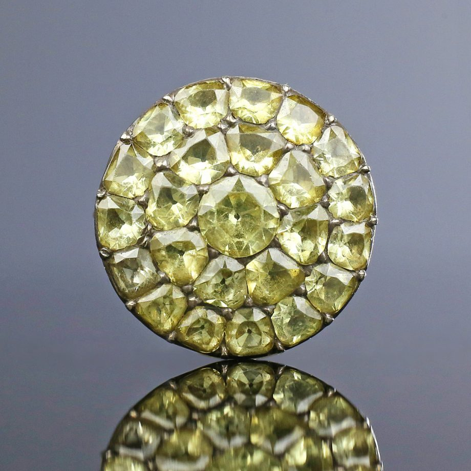 18th c Portuguese Chrysoberyl Cluster Ring