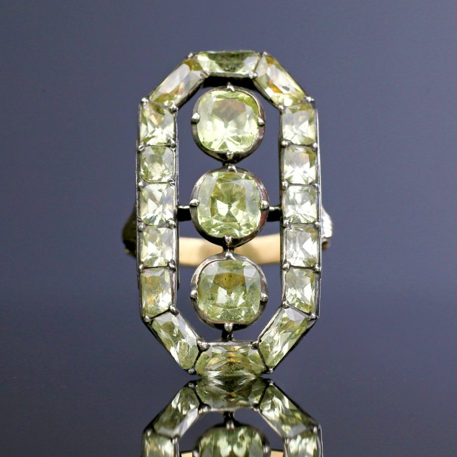 Late 18th c Portuguese Chrysoberyl Octagonal Ring