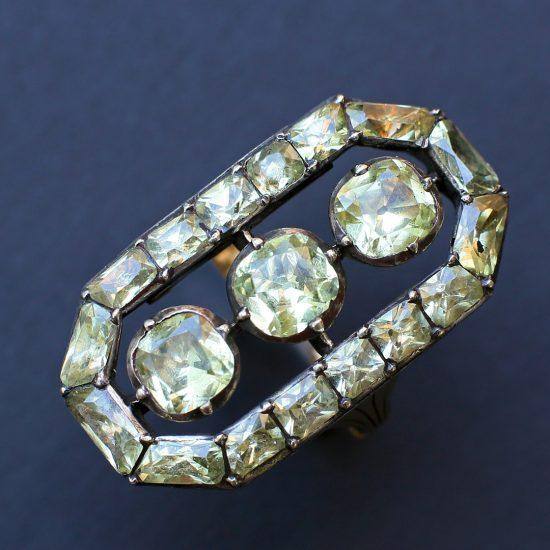 Georgian chrysoberyl ring