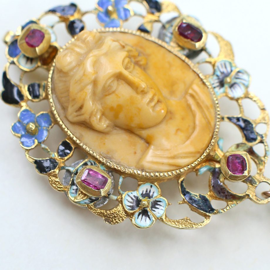 17th century enameled pendant