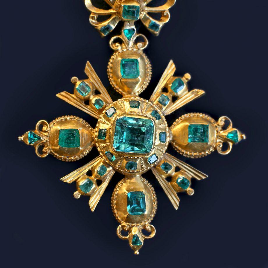 18th c Spanish Emerald Cross