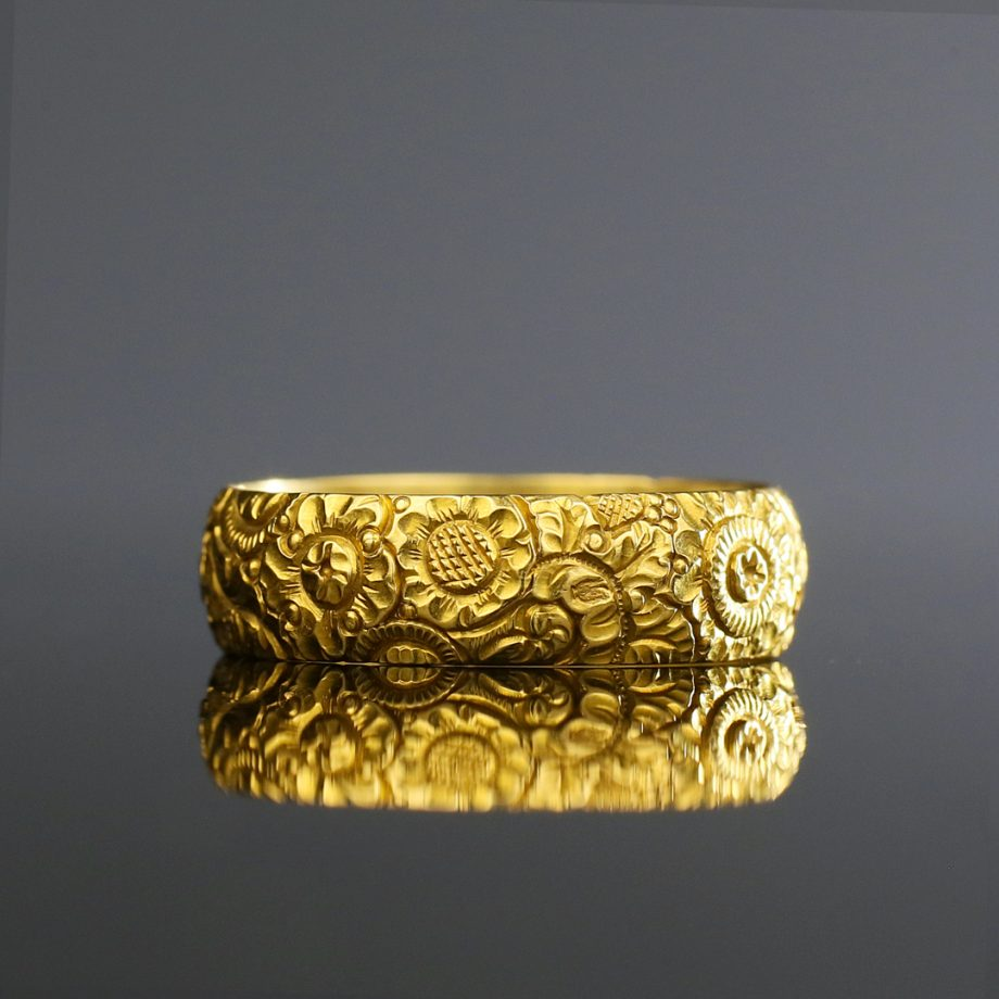 c. 1820s Georgian Chased Floral Band