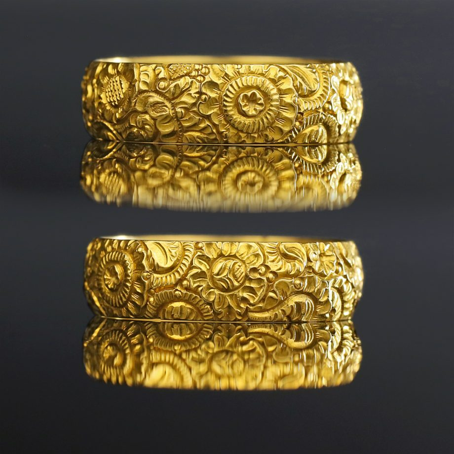 Georgian Floral Gold Band