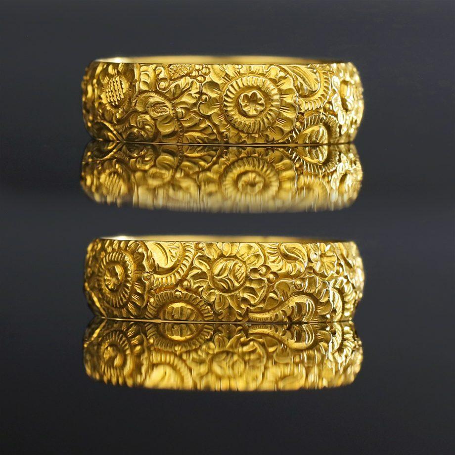 Georgian Floral Gold Band