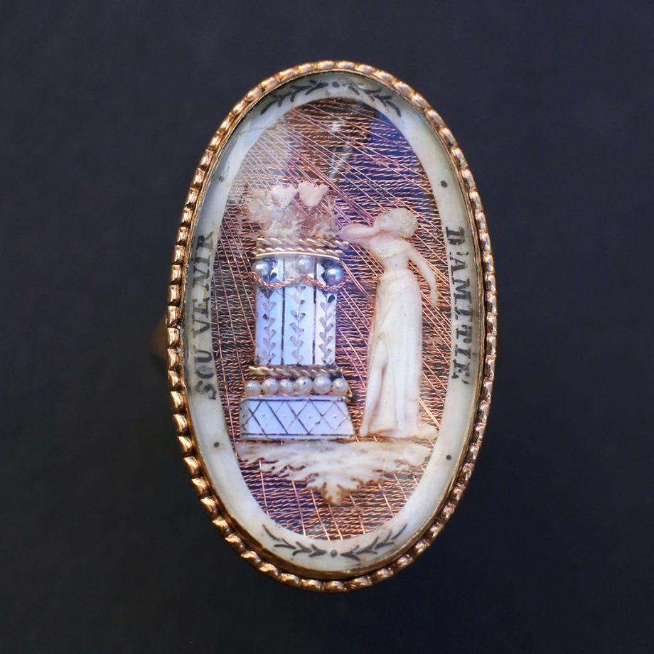 c.1790 Souvenir Souvenir d'Amitie Microivory Ring