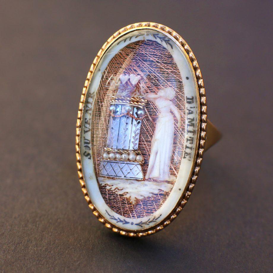 Georgian Micro Ivory Ring