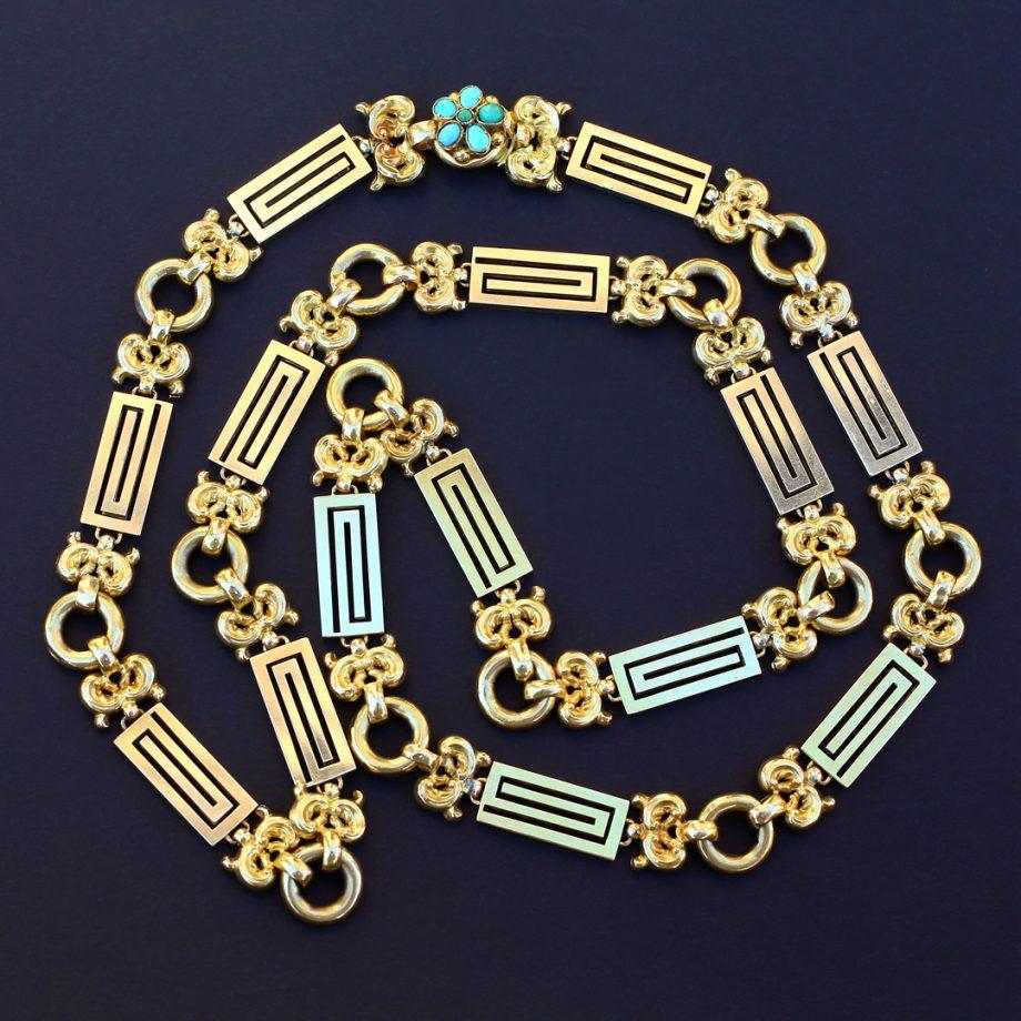 1830 Georgian Gold Neoclassical Sautoir Chain