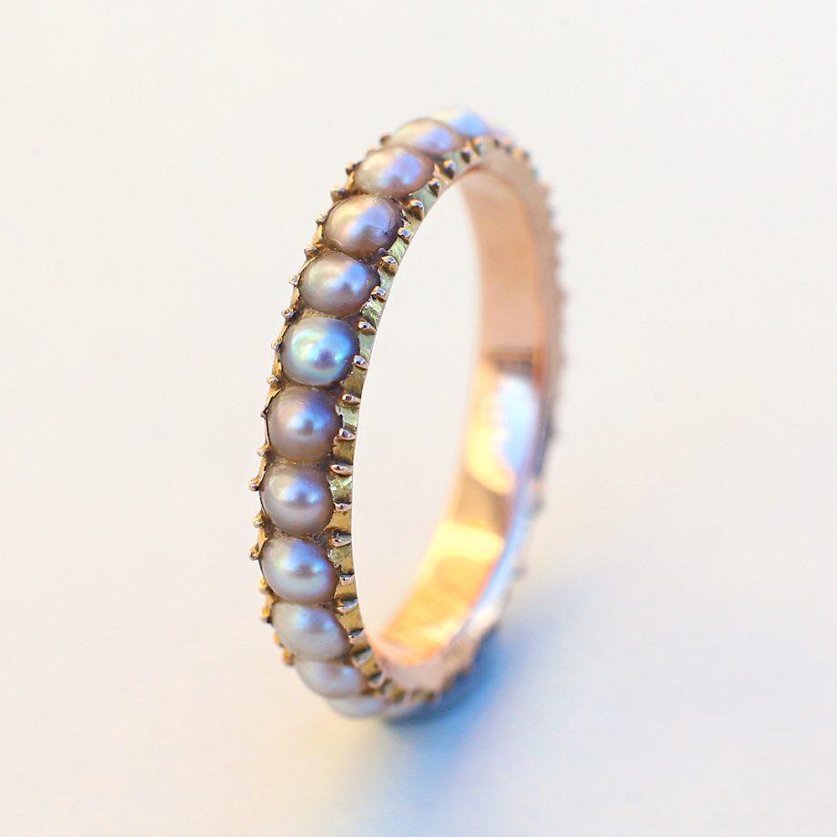 Georgian Pearl Full Eternity Ring