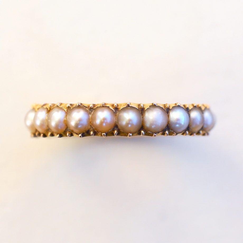 Georgian Pearl Hoop Ring