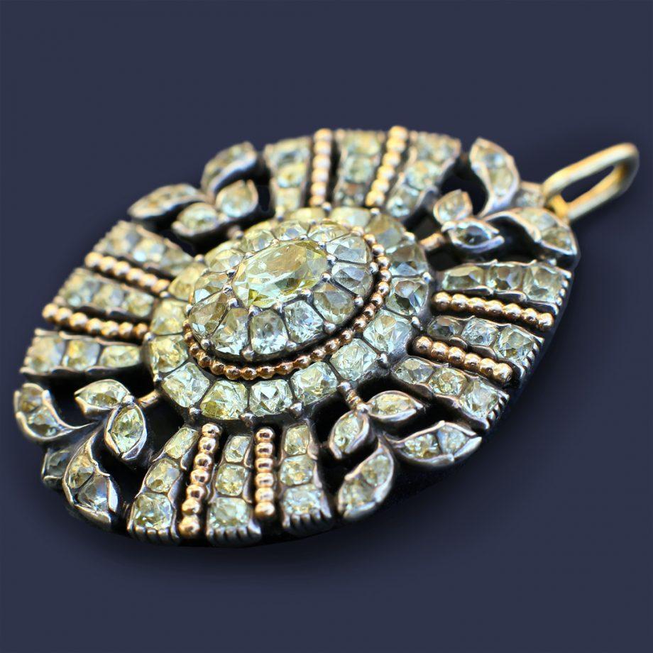 Antique Portuguese Chrysoberyl Pendant