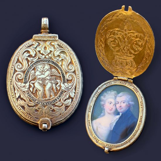 17th Century Amatory Engraved Locket