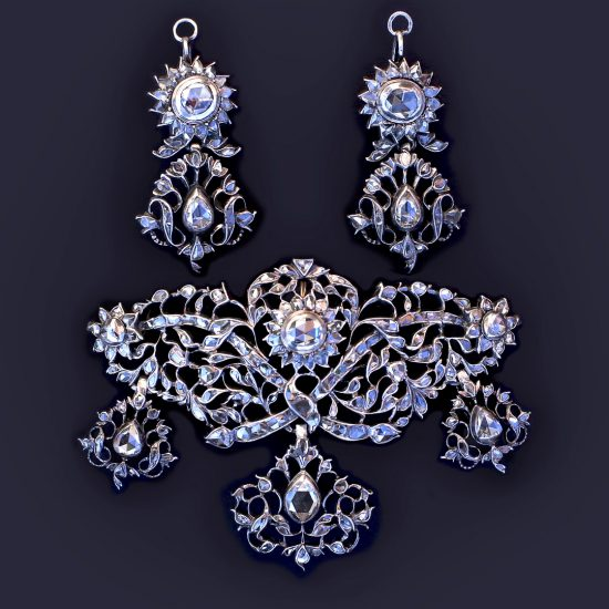 18th century Portuguese Rococo Diamond Demi-Parure