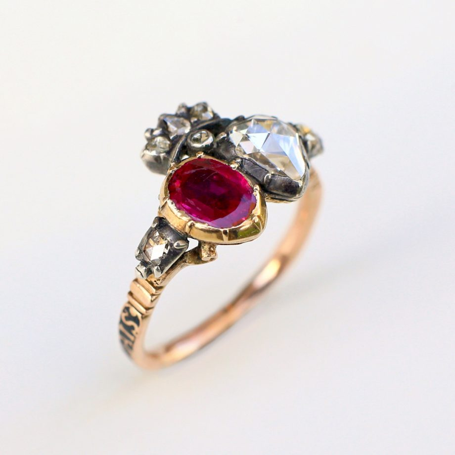 Georgian Crowned Heart Ring
