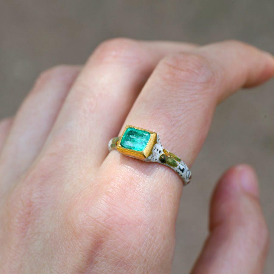 Renaissance emerald ring