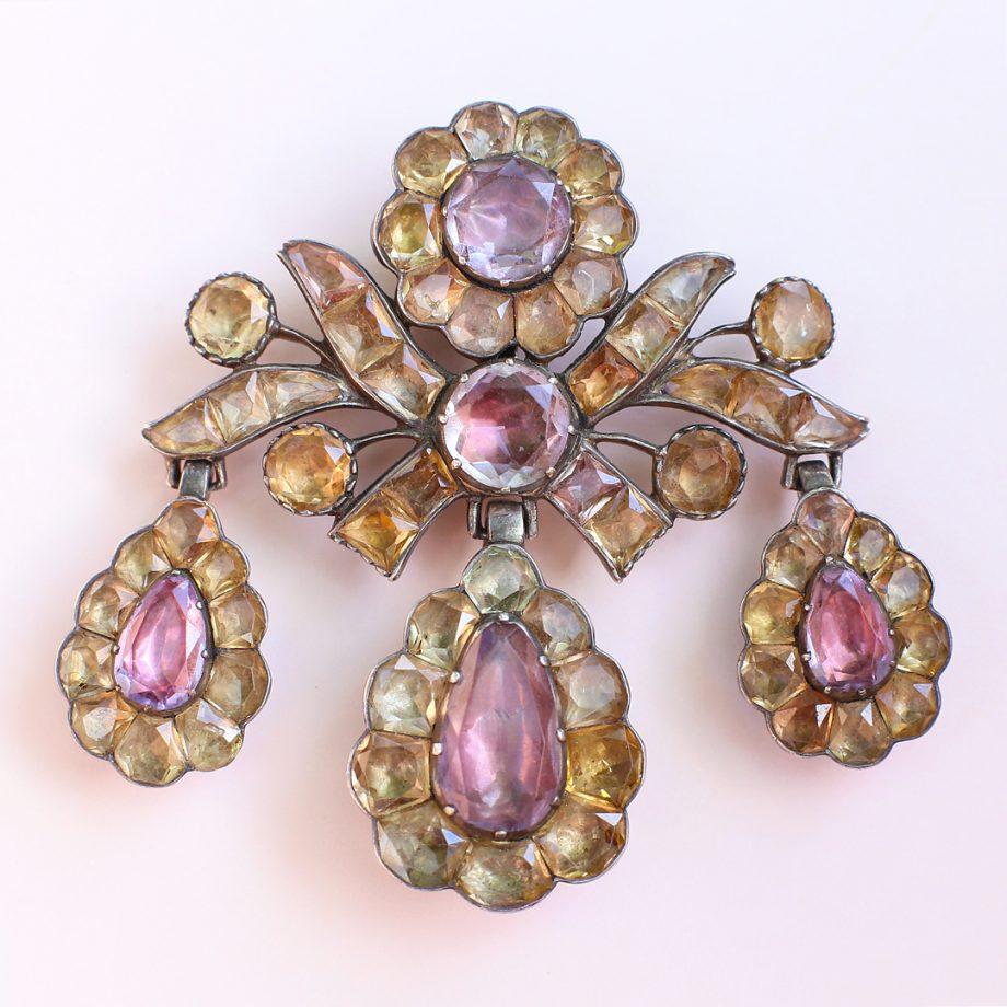 18th century Portuguese girandole topaz pendant
