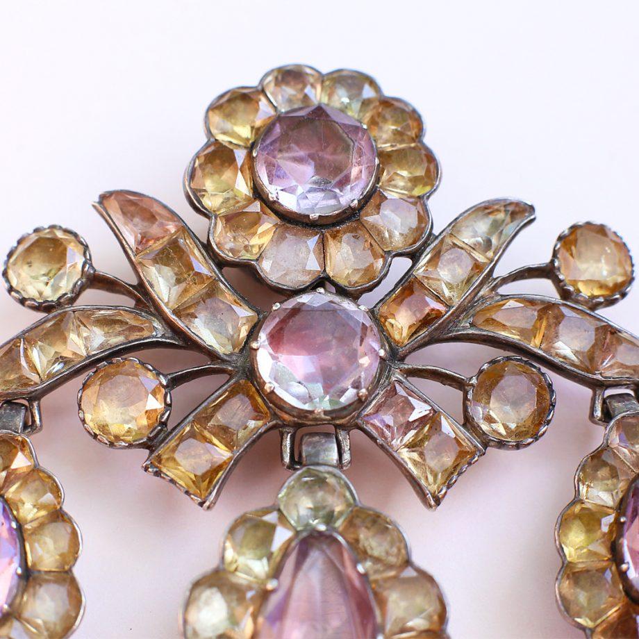 Portuguese topaz girandole pendant