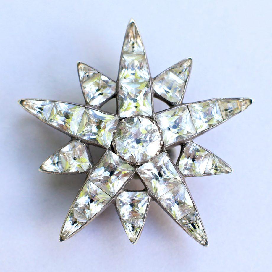 18th c Portuguese Starburst Hair Jewel Pendant