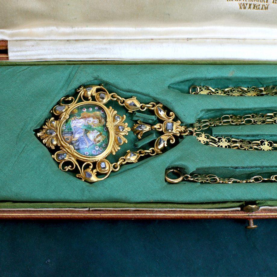 Baroque Spanish Devotional Pendant