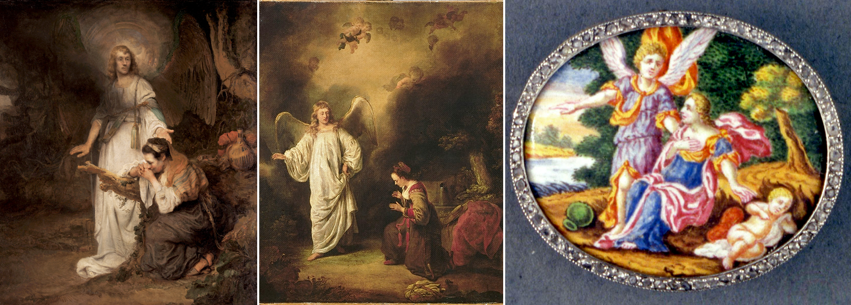 Hagar and Ishmael in the Wilderness with an Angel